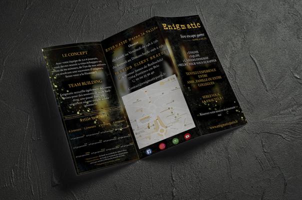 Lakssya réalise des dépliants et des flyers pour des entreprises