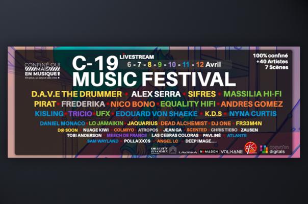 Line-up de C-19 Music Festival