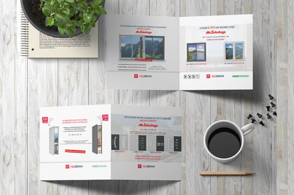 Lakssya crée des brochures, des flyers